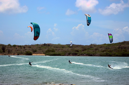 kiteboarding st. joris baai curacao