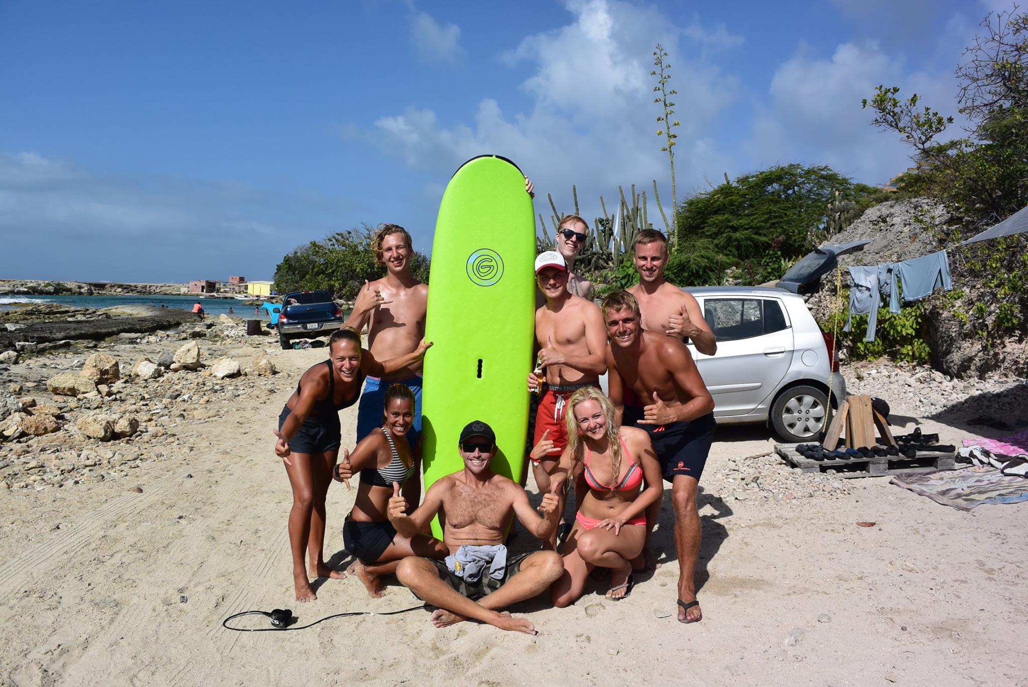 surfing curacao